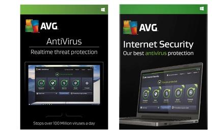 AVG 2018 Three User Two Year License: Antivirus or Internet Security