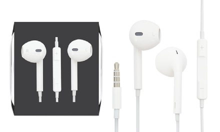 One or Two Sets of Apple Earpods® Repackaged with Remote and Mic
