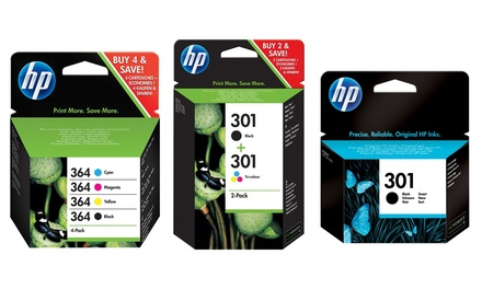 Hewlett Packard Black, Colour or Combo Ink Cartridges With Free Delivery